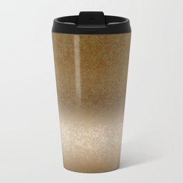Golden gradient ornament background Metal Travel Mug