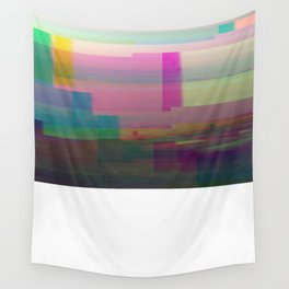 SCRATCHED DISK - Glitch Art Print Wall Tapestry
