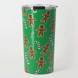 Gingerbread Man and Candy Canes Travel Mug