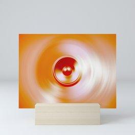 Spinning speaker Mini Art Print