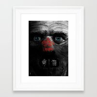 silence of the lambs Framed Art Prints featuring Silence of the Lambs  by Dan K Norris