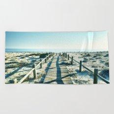 To the sea... Vintage beach Beach Towel