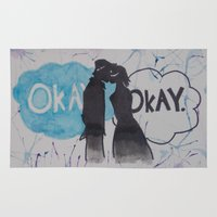 okay Area & Throw Rugs featuring Okay.  by Oksana's Art