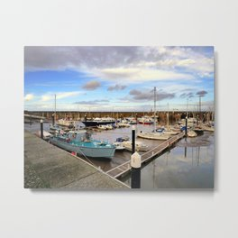Watchet Marina Somerset England Metal Print