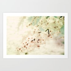 BRAVE LITTLE BLOSSOMS Art Print