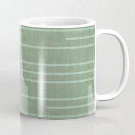 Geometric Art, Colorful Stripes Mudcloth, Prints Green Coffee Mug