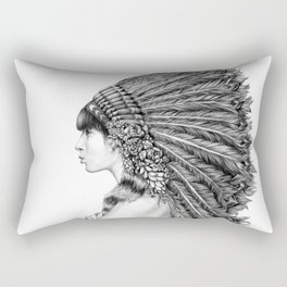 Ginger Flower Rectangular Pillow