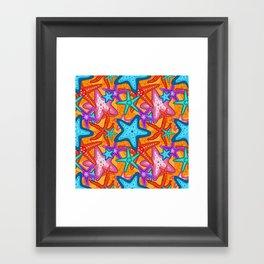 Starfish Pattern Design 2 Framed Art Print