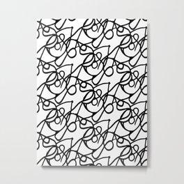 WHITE EYE Metal Print