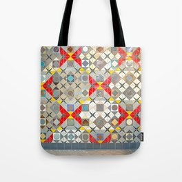 Detroit People Mover Art Broadway Fort and Cass Tote Bag