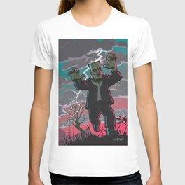 frankenstein creature in storm  T-shirt