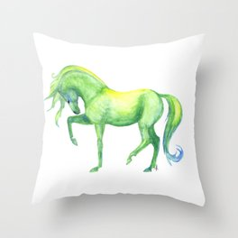Emerald Horse Throw Pillow