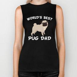 World's Best Pug Dad Biker Tank