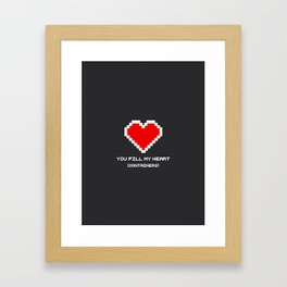 You Fill my Heart (Containers) Framed Art Print