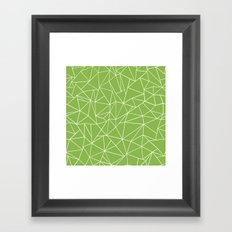Ab Outline Greeny Framed Art Print