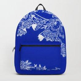 Vintage Lace Hankies Sapphire Blue Backpack