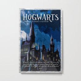 The best wizarding school Metal Print