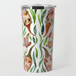 Five Otters – Green Seaweed Travel Mug