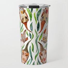 Five Otters – Green Seaweed Travel Mug