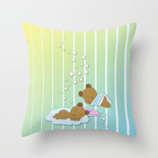 Sleepy Babies Throw Pillow