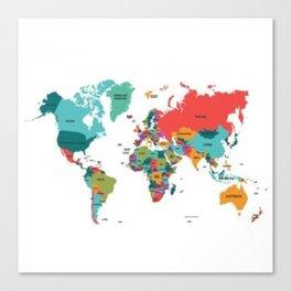 beautiful map Canvas Print