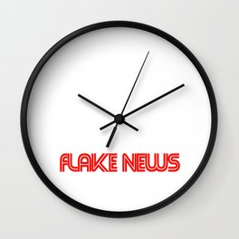flake news Wall Clock