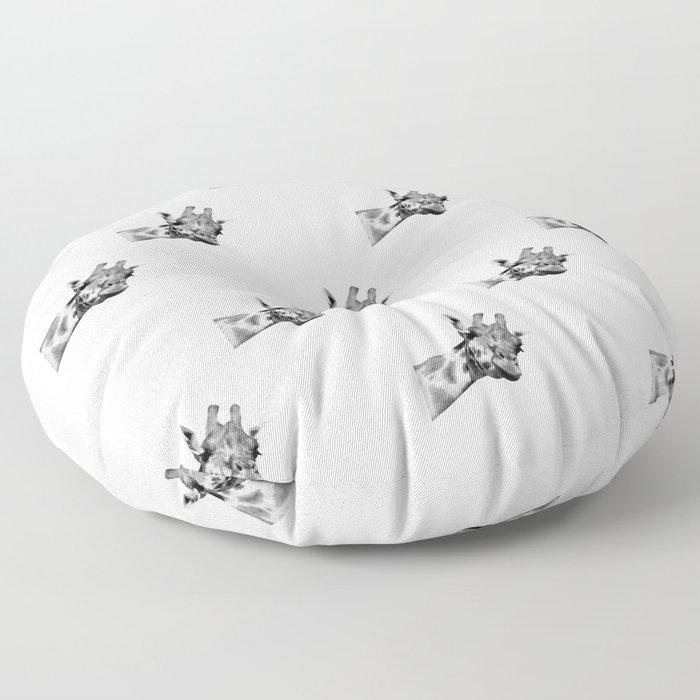 Black and white giraffe Floor Pillow