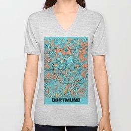Dortmund - Germany Gloria City Map Unisex V-Neck