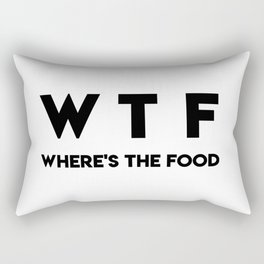 WTF Where's The Food Rectangular Pillow