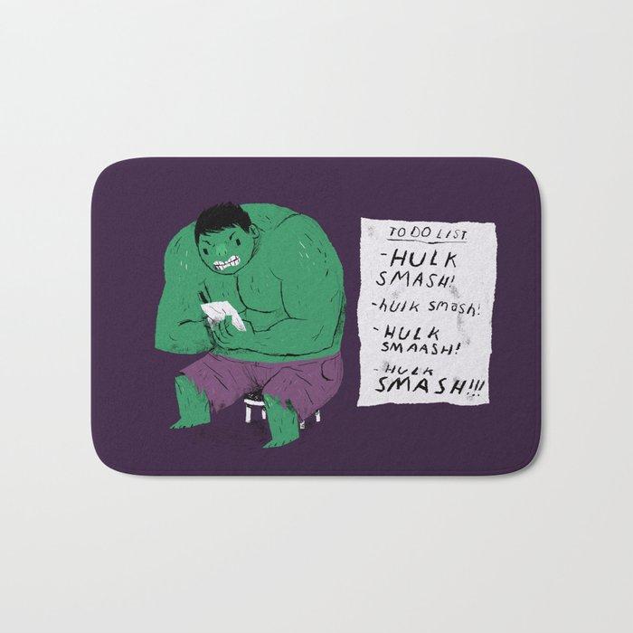 Hulk to do list. Bath Mat