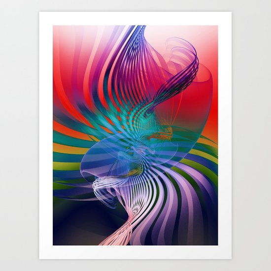 Gently Twisted Art Print