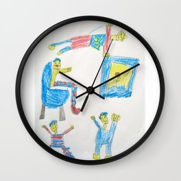 Dad's Workout Time Wall Clock