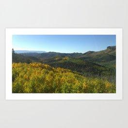 Colorful Forest Landscape Art Print