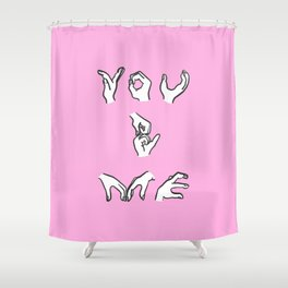 You and Me - pink Shower Curtain