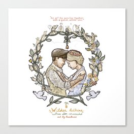 """White background illustration for video of song by Wilder Adkins, """"When I'm Married"""" Canvas Print"""