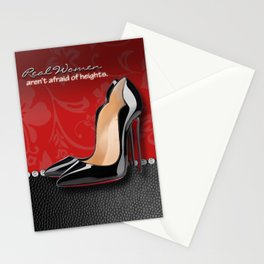 Real Women Aren't Afraid of Heights Stationery Cards