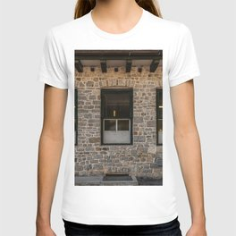 Series of windows lined up on a building of clear stones T-shirt