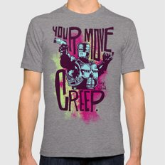 Your move, creep. // ROBOCOP X-LARGE Tri-Grey Mens Fitted Tee
