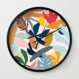 Abstract Floral No.1 Wall Clock
