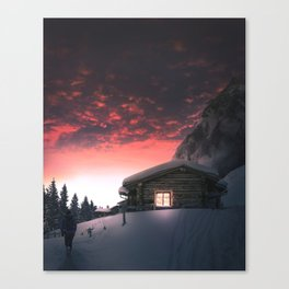 Finland cozy cabin retreat Canvas Print
