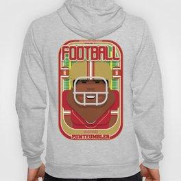American Football Red and Gold - Enzone Puntfumbler - Hayes version Hoody
