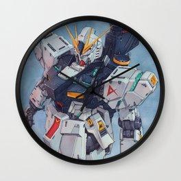 Nu Gundam watercolor Wall Clock