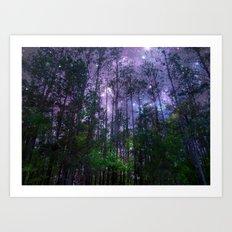 Mystic Forest : Purple Space Art Print