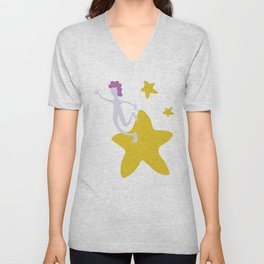 Reach for the Stars - Yellow Unisex V-Neck