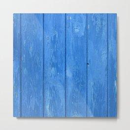 blue wood Metal Print