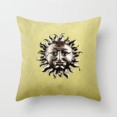 sepia sun Throw Pillow