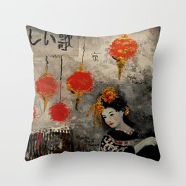 KYOTO SAD SONG Throw Pillow