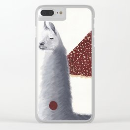 The camelid and the mushroom situation Clear iPhone Case