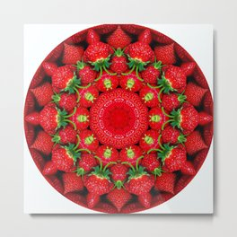 Strawberry season mandala k2 1159 Metal Print