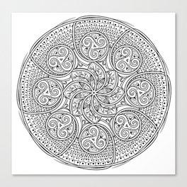 Celtic Swirl Mandala Canvas Print
